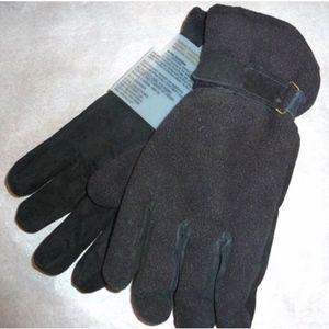 Isotoner Fleece Sports Gloves Mens M/L Adjustable